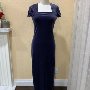 JUMP Winter Blue Velvet Gown Sz S